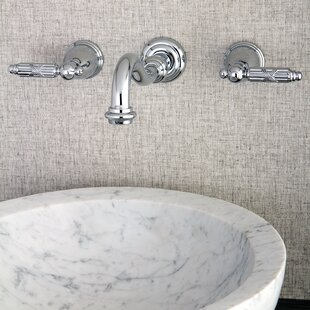 Kingston Brass Wall Mounted Bathroom Faucet with Drain Assembly