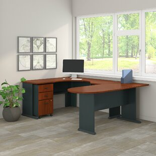 Bush Business Furniture Series A Corner 2 Piece U-Shaped Desk Office Suite