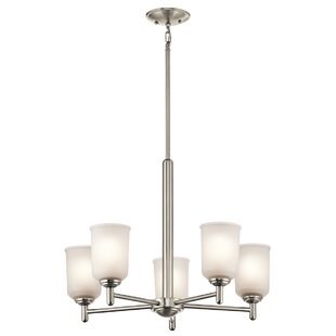 Hopedale 5-Light Shaded Chandelier by Latitude Run