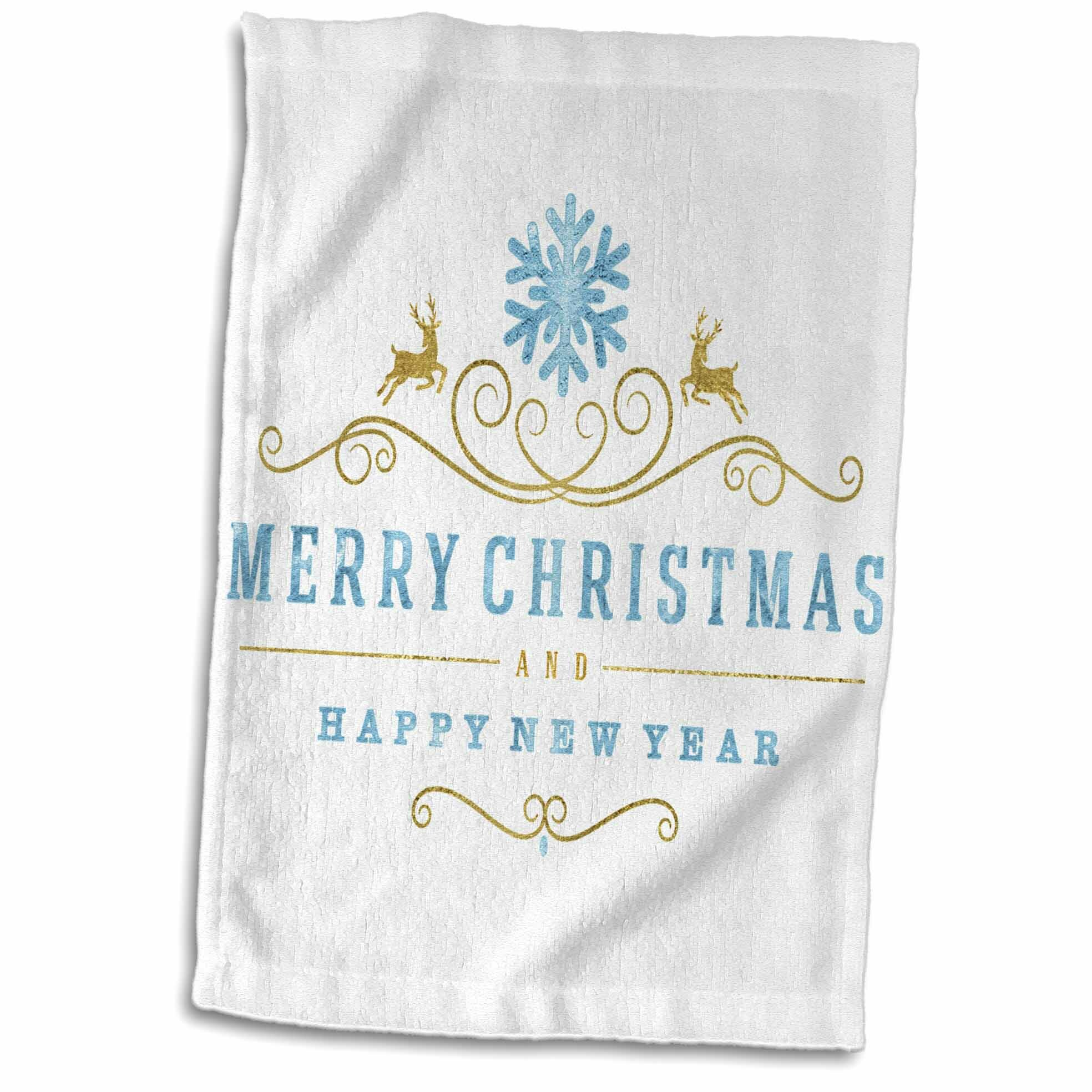 Merry Christmas and Happy New Year Tea Towel