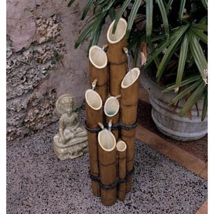 Wildon Home ® Resin/Bamboo Sculptural Fountain