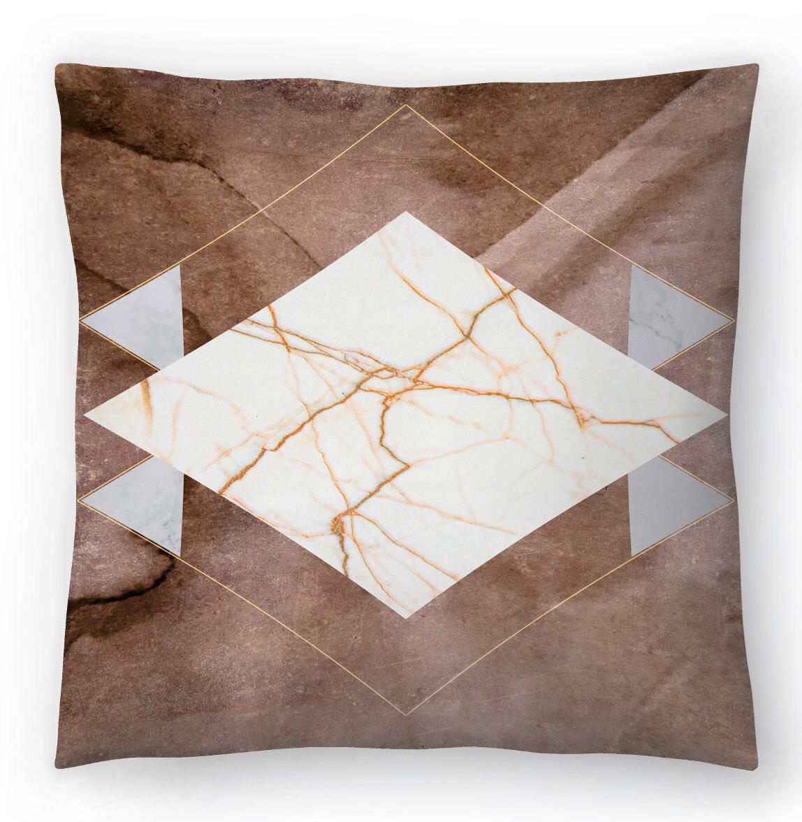 East Urban Home Hope Bainbridge Stone And Marble Ii Throw Pillow Wayfair