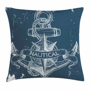 Nautical Knot Anchor Compass Pillow Cover