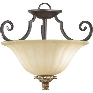 Fleur De Lis Living Zena 2-Light Bowl Pendant