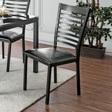 Dalston Metal Ladder Back Side Chair in Black (Set of 2) by Red Barrel Studio®