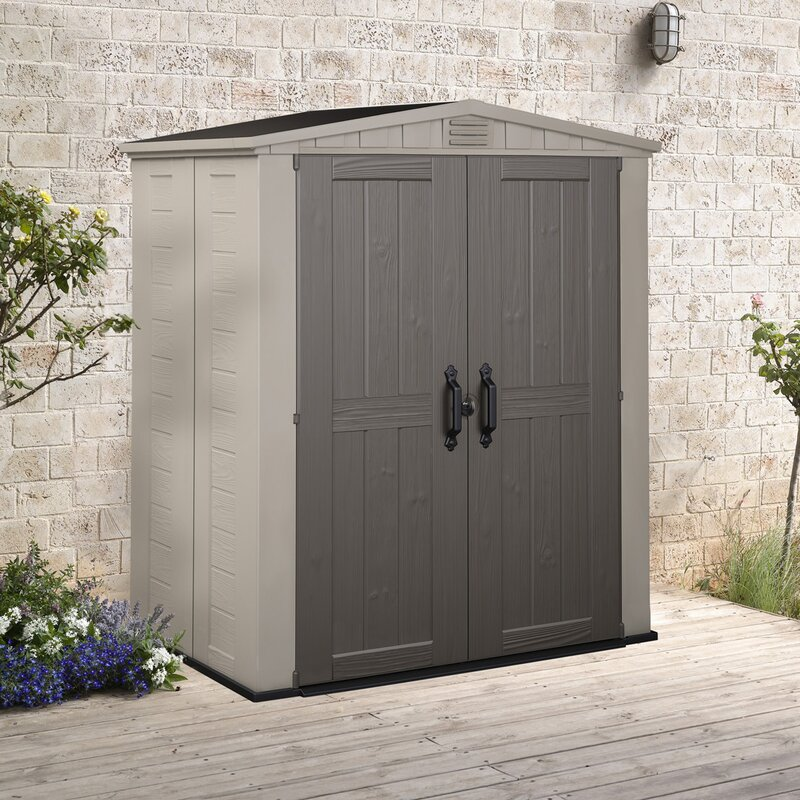 Garden Sheds 5 X 9 keter factor 5 ft. 10 in. w x 3 ft. 9 in. d plastic tool shed