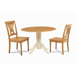 Troy 3 Piece Drop Leaf Solid Wood Dining Set by Millwood Pines 2019 Online