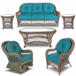 Bayou Breeze guinn 6 Piece Rattan Sofa Set with Sunbrella Cushions