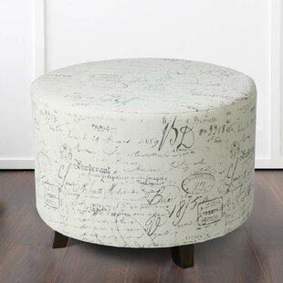 Enjoyable Javion Script Pattern Round Ottoman Short Links Chair Design For Home Short Linksinfo