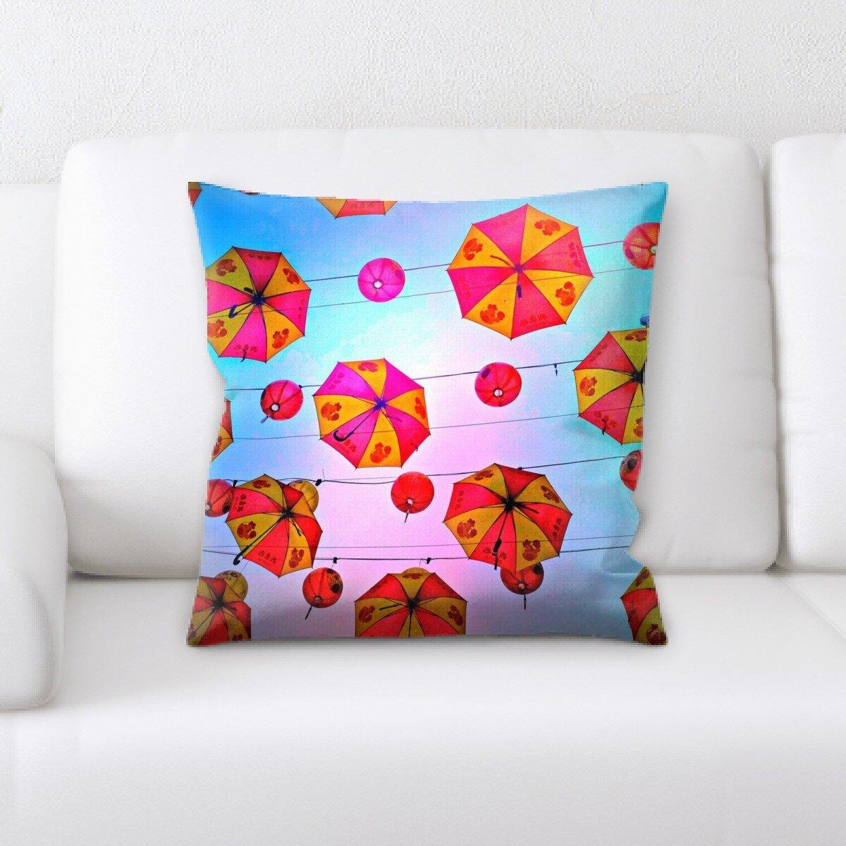 East Urban Home Sharp Colors Throw Pillow