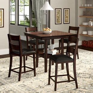 Juno 5-Piece Counter-Height Dining Set Winston Porter