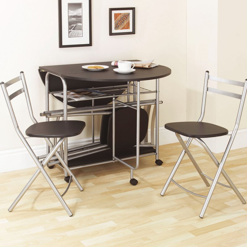 prower folding dining set with 4 chairs