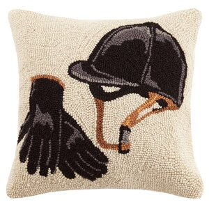 Equestrian Gear Wool Throw Pillow
