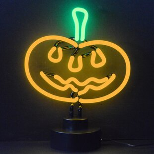 Pumpkin LED Tabletop Neon Sign by Neonetics