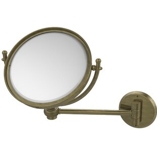 Wall Mounted Make-Up 4X Magnification Mirror with Twist Detail By Allied Brass