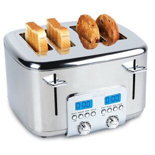 4 Slice Digital Stainless Steel Toaster