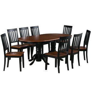 Kasey 9 Piece Extendable Solid Wood Dining Set