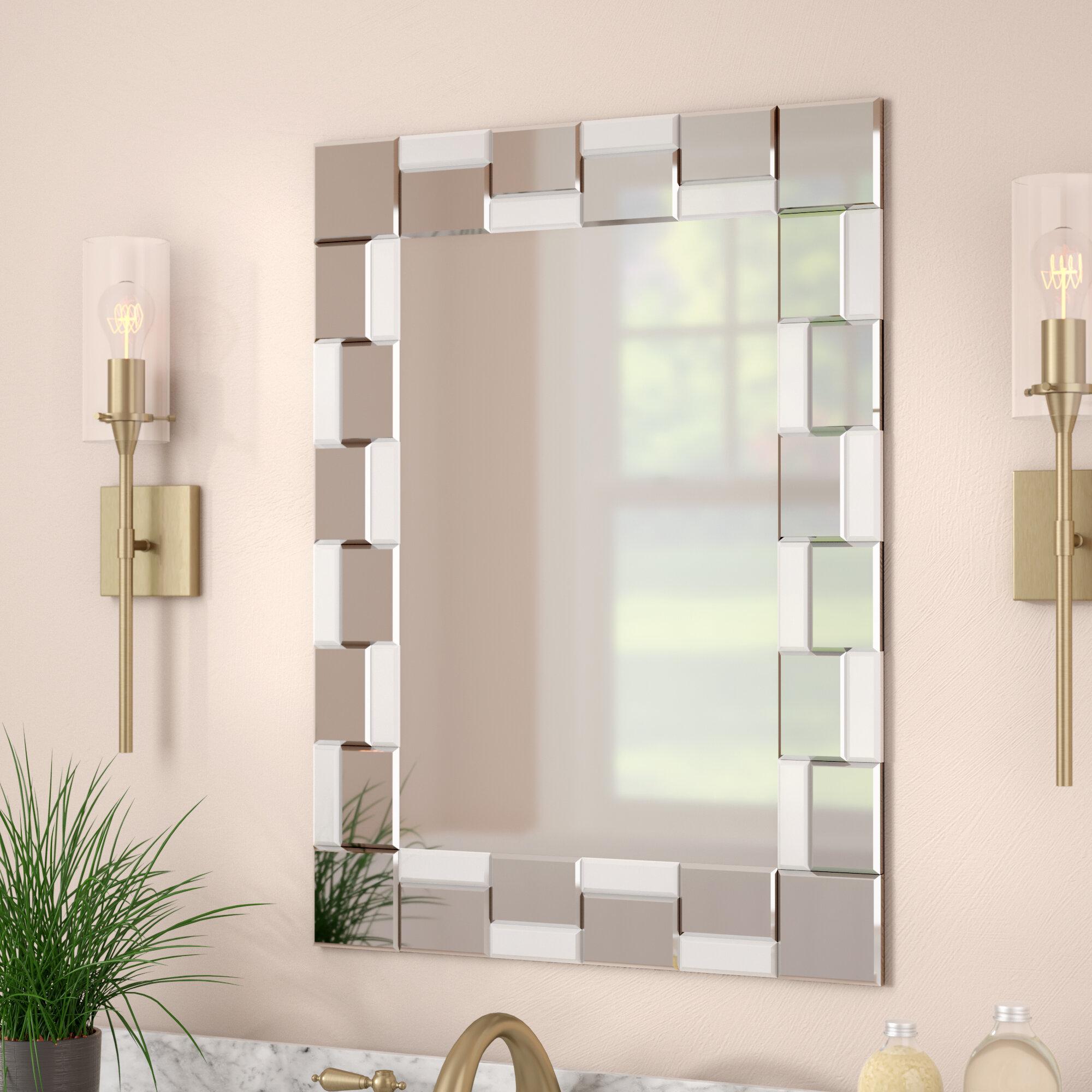 House Of Hampton Kher Modern Wall Mirror Reviews Wayfair
