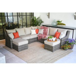 Valentin 5 Piece Sunbrella Sectional Seating Group with Cushions