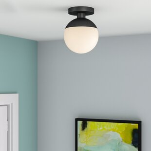 Mercury Row Yearby 1-Light Semi Flush Mount