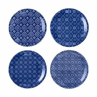 Paisleigh 4 Piece Melamine Appetizer Plate Set