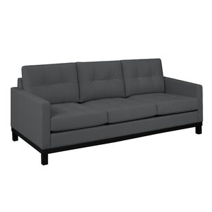 Merrick Road Leather Sofa by Latitude Run Today Sale Only
