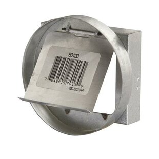Range Hood Galvanized Metal Duct Collar with Damper