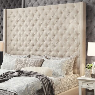 Borchers Upholstered Wingback Headboard by Three Posts