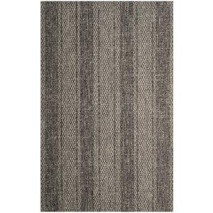 Myers Striped Gray/Black Indoor/Outdoor Area Rug