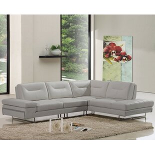 Orren Ellis Coalpit Heath Leather Reclining Sectional