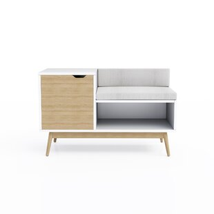 Classic polished wooden entryway bench Layout Kinsley Sectional Wood Storage Bench Allmodern Modern Benches Allmodern