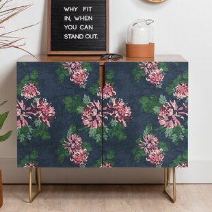 Holli Zollinger Chrysanthemum Twilight Sideboard by East Urban Home