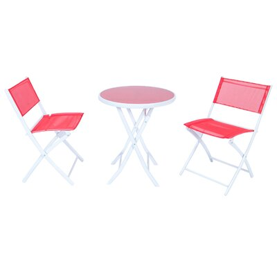 Tadcaster Outdoor Folding 3 Piece Bistro Set by Freeport Park Bargain