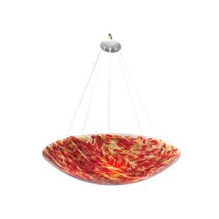 Meyda Tiffany Dune Di Sabbia Fused Glass 4-Light Bowl Pendant