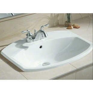 Kohler Cimarron Ceramic Rectangular Drop-In Bathroom Sink with Overflow