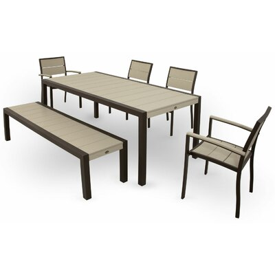 Trex Outdoor Surf City 6 Piece Dining Set Colour: Textured Bronze / Sand Castle