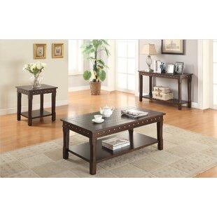 A&J Homes Studio Lakeme 3 Piece Coffee Table Set