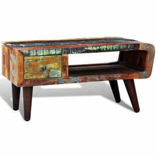 World Menagerie Cheyanna Reclaimed Wood Coffee Table with Storage