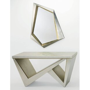Artmax Console Table and Mirror Set