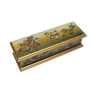 Price Check Songbird Haven Reverse Painted Manufactured Wood Box By Novica
