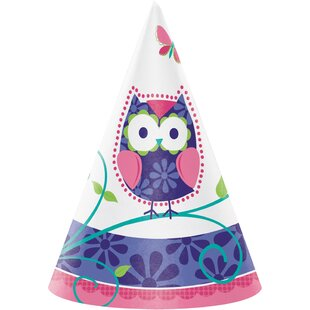 Owl Pal Birthday Hat Paper Disposable Party Favor (Set of 24)