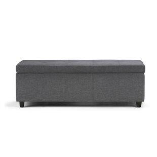 Charlton Home Burkeville Upholstered Storage Bench