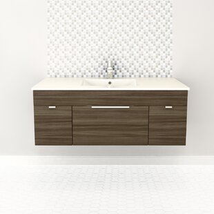 Online Reviews Textures 48 Wall Mounted Single Bathroom Vanity Set By Cutler Kitchen & Bath