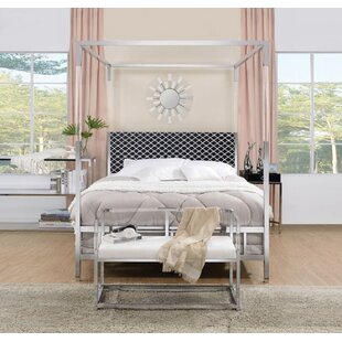 Spenser Queen Upholstered Canopy Bed by Everly Quinn #2