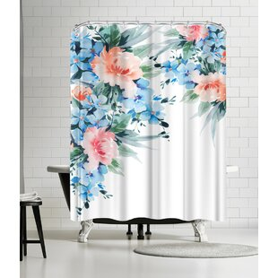 Victoria Nelson Blossom Bouquet Single Shower Curtain