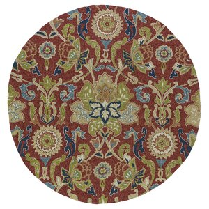 Manning Floral And Plants Red Indoor/Outdoor Area Rug