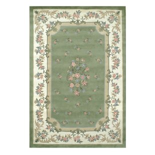 Floral Garden Aubusson Sage/Ivory Area Rug byAmerican Home Rug Co.