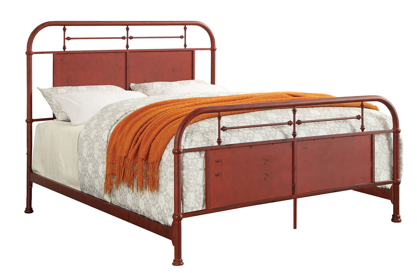 Picture of: Loon Peak Bertita Industrial California King Platform Bed Wayfair