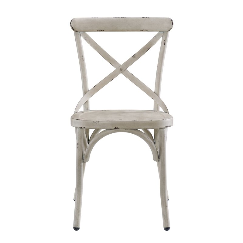 Bendigo Distressed Antique Metal Dining Chair - Gracie Oaks Bendigo Distressed Antique Metal Dining Chair