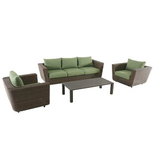 Humphreys 4 Piece Sofa Seating Group With Cushions by Bayou Breeze Great price